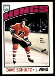 1976 O-Pee-Chee NHL #150  Dave Schultz  Front Thumbnail