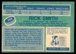 1976 O-Pee-Chee NHL #269  Rick Smith  Back Thumbnail