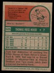 1975 Topps Mini #525  Tom House  Back Thumbnail