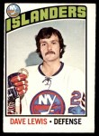 1976 O-Pee-Chee NHL #221  Dave Lewis  Front Thumbnail