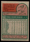 1975 Topps Mini #292  Ron Schueler  Back Thumbnail