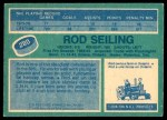 1976 O-Pee-Chee NHL #280  Rod Seiling  Back Thumbnail