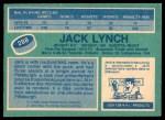 1976 O-Pee-Chee NHL #288  Jack Lynch  Back Thumbnail
