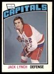 1976 O-Pee-Chee NHL #288  Jack Lynch  Front Thumbnail