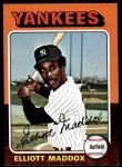 1975 Topps Mini #113  Elliott Maddox  Front Thumbnail