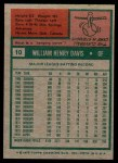1975 Topps Mini #10  Willie Davis  Back Thumbnail
