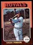 1975 Topps Mini #295  Vada Pinson  Front Thumbnail