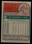 1975 Topps Mini #375  Roy White  Back Thumbnail
