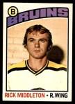 1976 O-Pee-Chee NHL #127  Rick Middleton  Front Thumbnail
