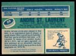1976 O-Pee-Chee NHL #29  Andre St.Laurent  Back Thumbnail