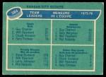 1976 O-Pee-Chee NHL #384   -  Guy Charron / Steve Durbano Scouts Leaders Back Thumbnail