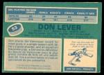 1976 O-Pee-Chee NHL #53  Don Lever  Back Thumbnail