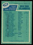 1976 O-Pee-Chee NHL #142   Islanders Team Back Thumbnail