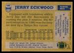 1982 Topps #498  Jerry Eckwood  Back Thumbnail