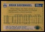 1982 Topps #293  Brian Baschnagel  Back Thumbnail