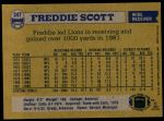 1982 Topps #347  Freddie Scott  Back Thumbnail