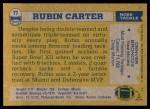 1982 Topps #77  Rubin Carter  Back Thumbnail