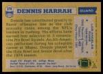 1982 Topps #378  Dennis Harrah  Back Thumbnail