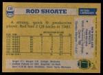 1982 Topps #159  Rod Shoate  Back Thumbnail