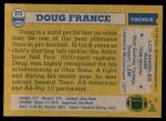 1982 Topps #375  Doug France  Back Thumbnail
