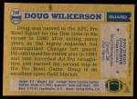 1982 Topps #240  Doug Wilkerson  Back Thumbnail