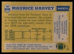 1982 Topps #360  Maurice Harvey  Back Thumbnail