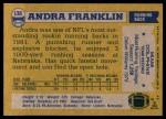 1982 Topps #130  Andra Franklin  Back Thumbnail
