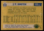 1982 Topps #123  J.T.Smith  Back Thumbnail