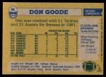 1982 Topps #64  Don Goode  Back Thumbnail