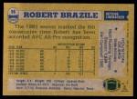 1982 Topps #96  Robert Brazile  Back Thumbnail