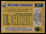 1982 Topps #512  Wilbur Jackson  Back Thumbnail