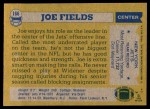 1982 Topps #166  Joe Fields  Back Thumbnail