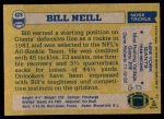 1982 Topps #429  Bill Neill  Back Thumbnail