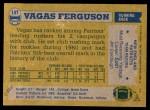 1982 Topps #147  Vagas Ferguson  Back Thumbnail