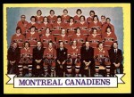 1973 Topps #100   Canadiens Team Front Thumbnail