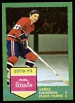 1973 Topps #197   Canadiens 4 Black Hawks 2  Front Thumbnail