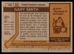 1973 Topps #126  Gary Smith   Back Thumbnail