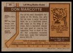 1973 Topps #89  Don Marcotte   Back Thumbnail