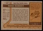 1973 Topps #139  Rene Robert   Back Thumbnail