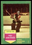 1973 Topps #195   Canadiens 4 Flyers 1  Front Thumbnail
