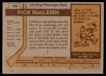 1973 Topps #135  Rick MacLeish   Back Thumbnail