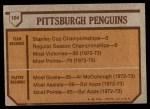 1973 Topps #104   Penguins Team Back Thumbnail
