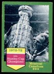 1973 Topps #198   Stanley Cup Champions  Front Thumbnail
