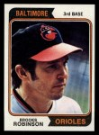 1974 Topps #160  Brooks Robinson  Front Thumbnail