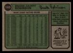 1974 Topps #160  Brooks Robinson  Back Thumbnail