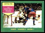 1973 Topps #194   Rangers 4 Bruins 1  Front Thumbnail