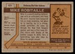 1973 Topps #121  Mike Robitaille   Back Thumbnail