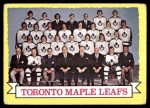 1973 Topps #106   Toronto Maple Leafs Team Front Thumbnail