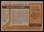 1973 Topps #183  Andre Dupont   Back Thumbnail