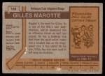 1973 Topps #188  Gilles Marotte   Back Thumbnail